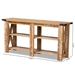 Baxton Studio Angelo Modern and Contemporary Rustic Oak Brown Finished Wood Console Table - BST-SET1639-Yukon Eiche-Console