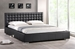 Baxton Studio Madison Black Modern Bed with Upholstered Headboard - Queen Size
