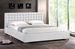 Baxton Studio Madison White Modern Bed with Upholstered Headboard - Queen Size