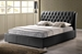 Bianca Black Modern Bed with Tufted Headboard - Queen Size