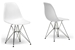 Baxton Studio White Plastic Side Chair Set of 2 - DC-231-white