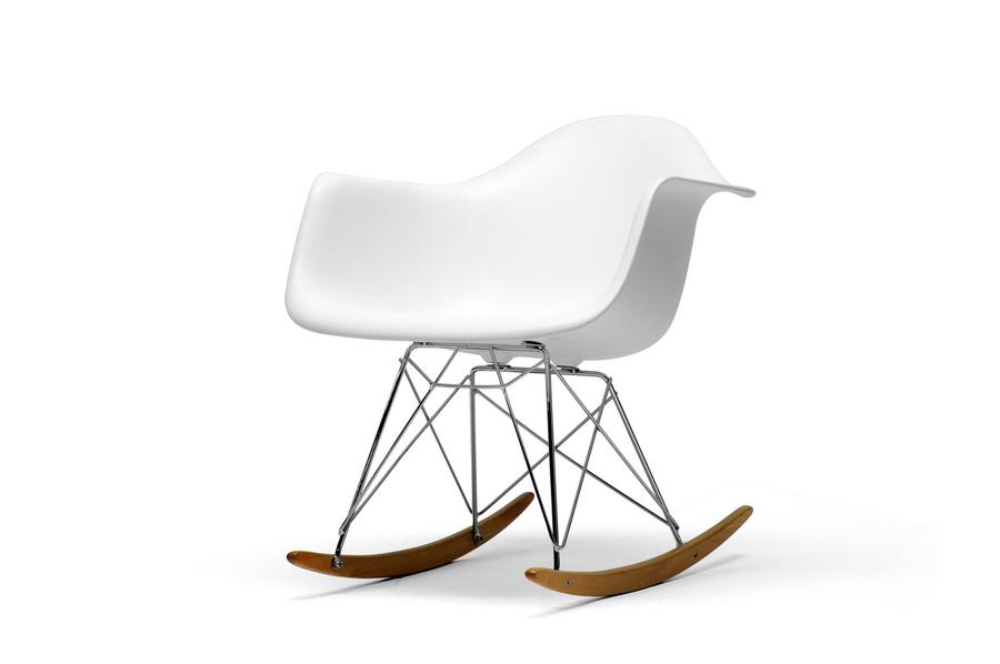 Baxton Studio White Plastic Rocking Chair