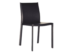 Baxton Studio Black Burridge Leather Dining Chair (Set of 2)