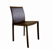 Baxton Studio Brown Burridge Leather Dining Chair (Set of 2)