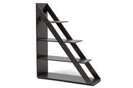 Psinta Dark Brown Modern Shelving Unit