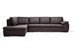 Baxton Studio Diana Dark Brown Sofa/Chaise Sectional Reverse - 625-M9805-Sofa/Lying Leather/Match (M) Reverse