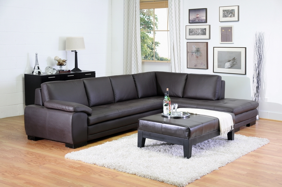 cheap leather living room furniture diana brown sofa chaise sectional interiors 20324