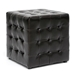 Baxton Studio Siskal Dark Brown Modern Cube Ottoman (Set of 2) - BH-5589-DARK BROWN-OTTO