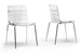 Baxton Studio Marisse Clear Plastic Modern Dining Chair (Set of 2)