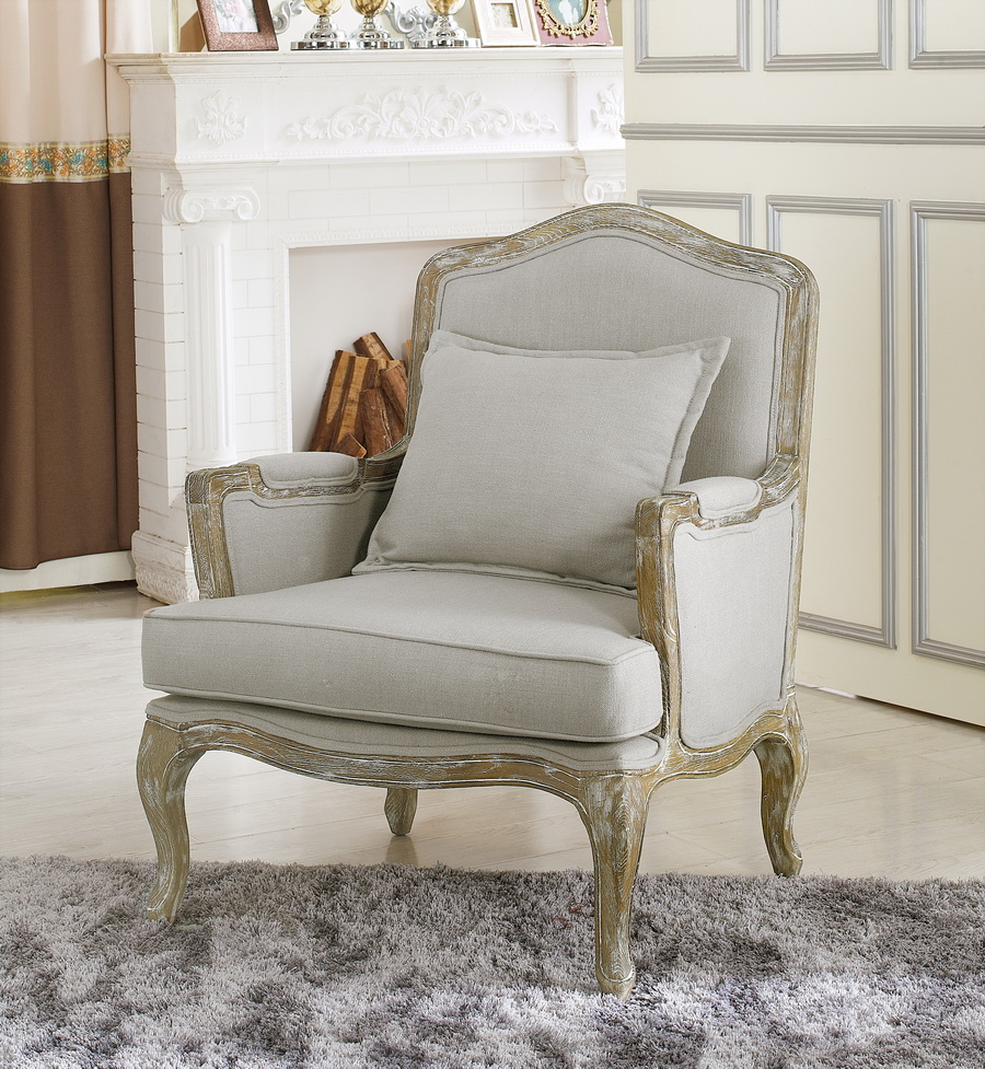 Baxton Studio Constanza Classic Antiqued French Sofa Set