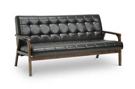 Baxton Studio Mid-Century Masterpieces Sofa-Brown