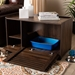 Baxton Studio Claire Modern and Contemporary Walnut Brown Finished Cat Litter Box Cover House - SECHC150080WI-Columbia-Cat House